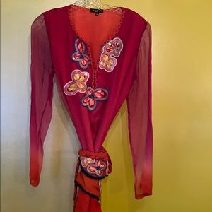Embroidered Etro top and belt